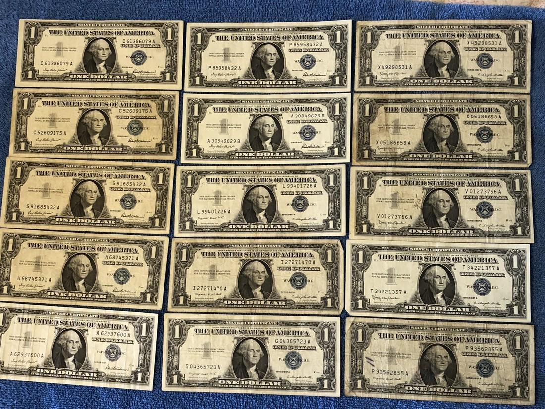 15 - $1 Silver Certificates