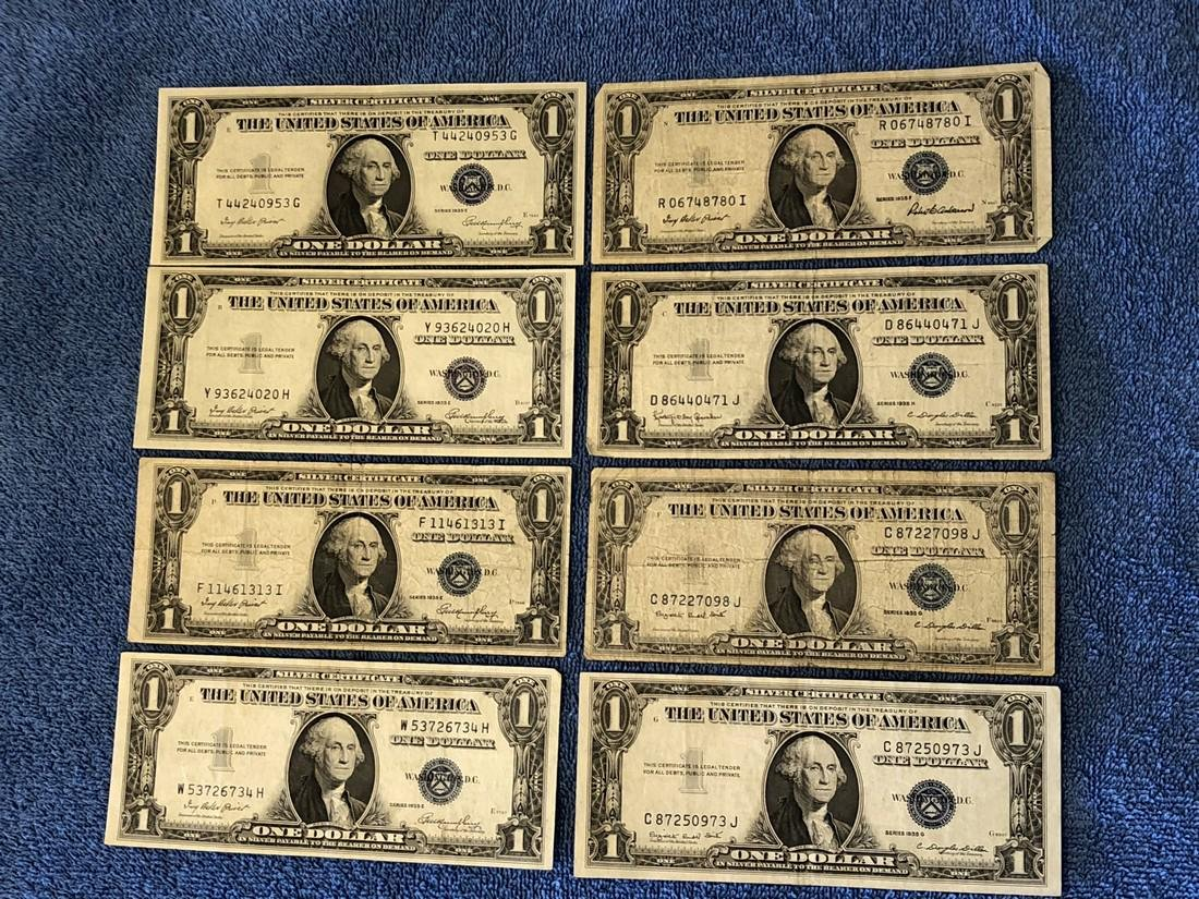 8 - $1 Silver Certificates