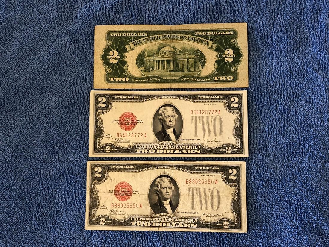 3 - $2 Fed Reserve Notes