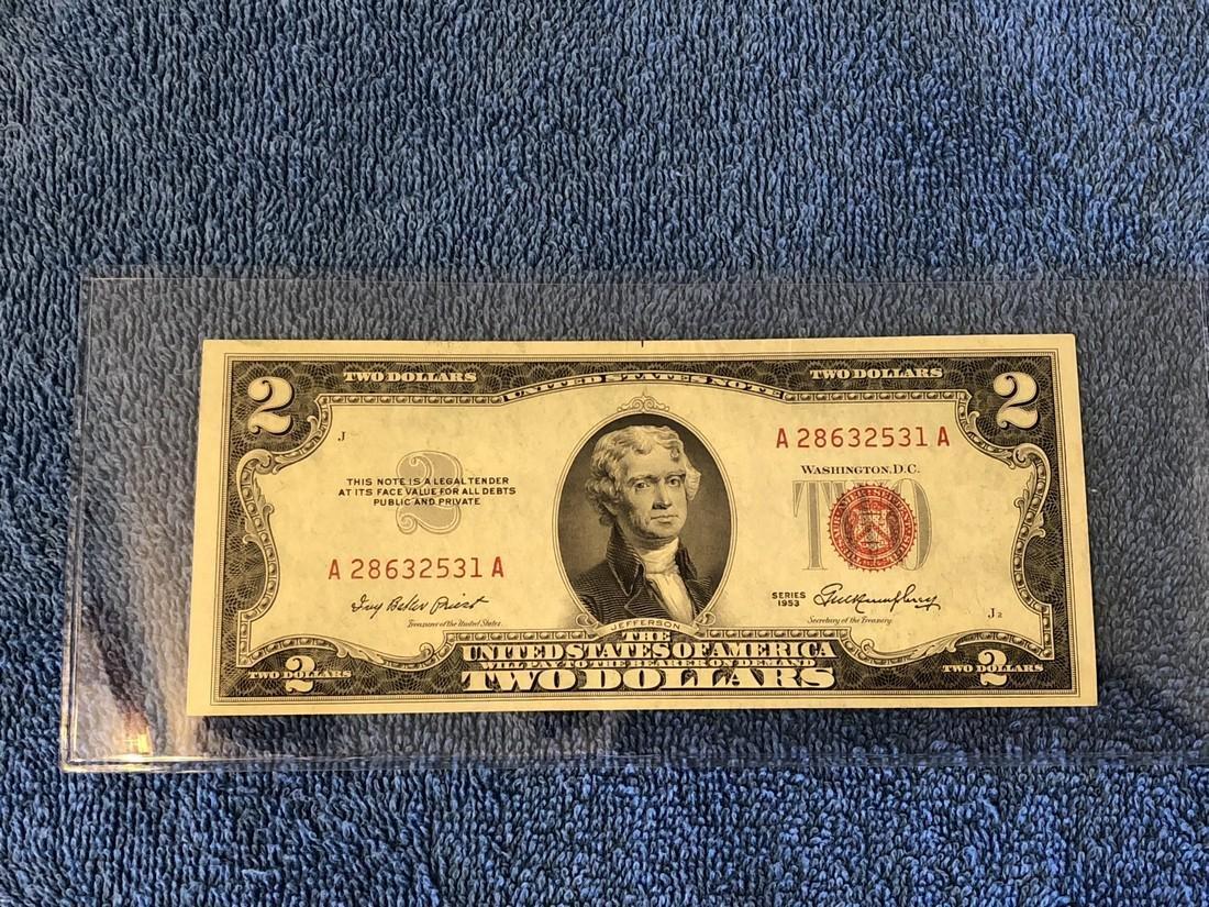 $2 US Note Series 1953