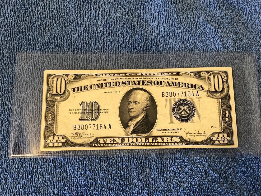 $10 Silver Certificate Series 1934A