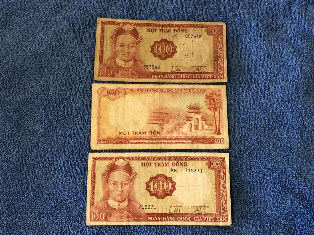 3 - $100 Dong Vietnam Currency