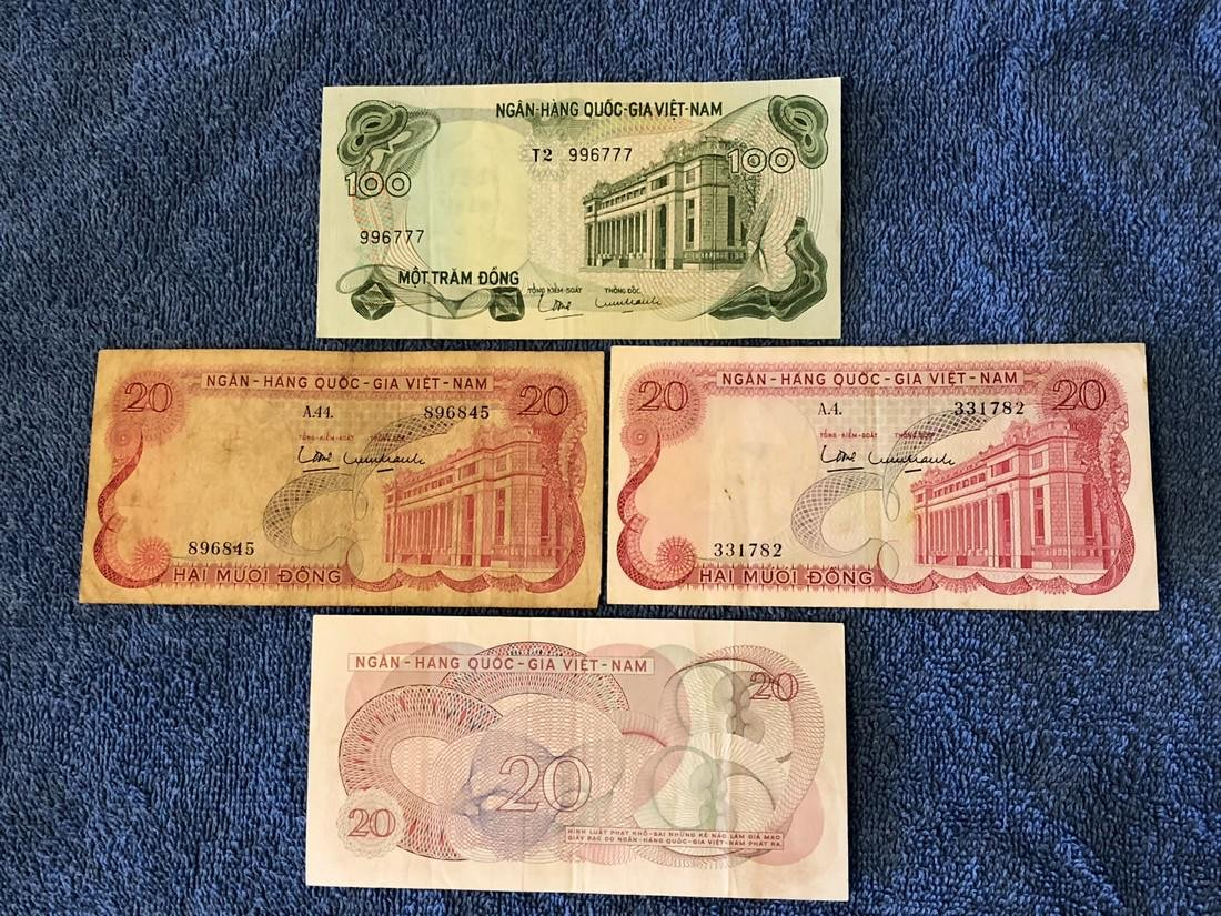 4 - Vietnam Currency Notes