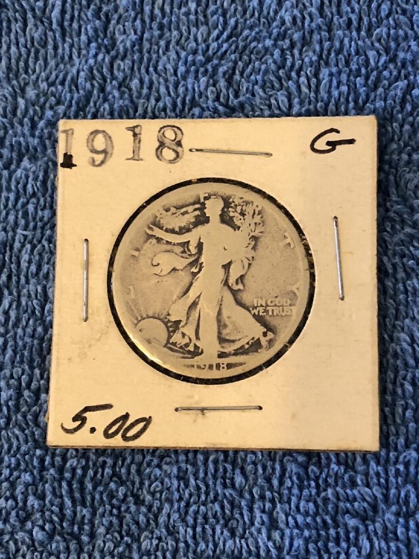 1918 Good Walking Liberty Half Dollar