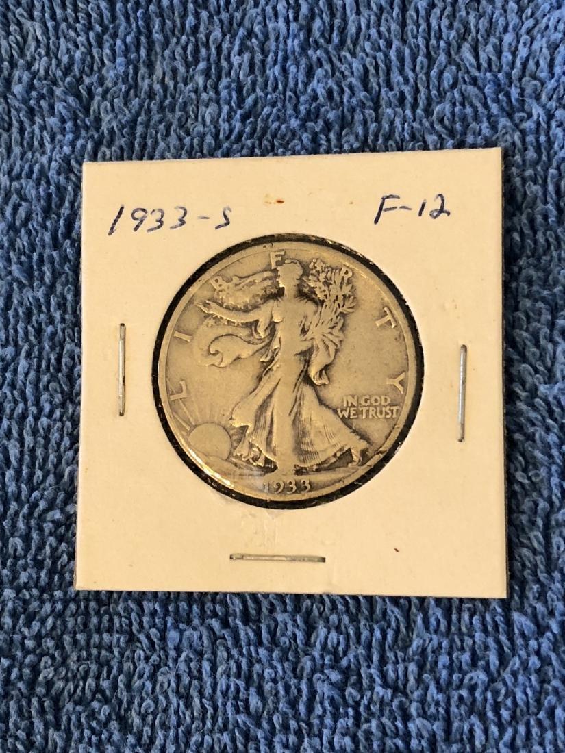 1933S Walking Liberty Half Dollar F-12