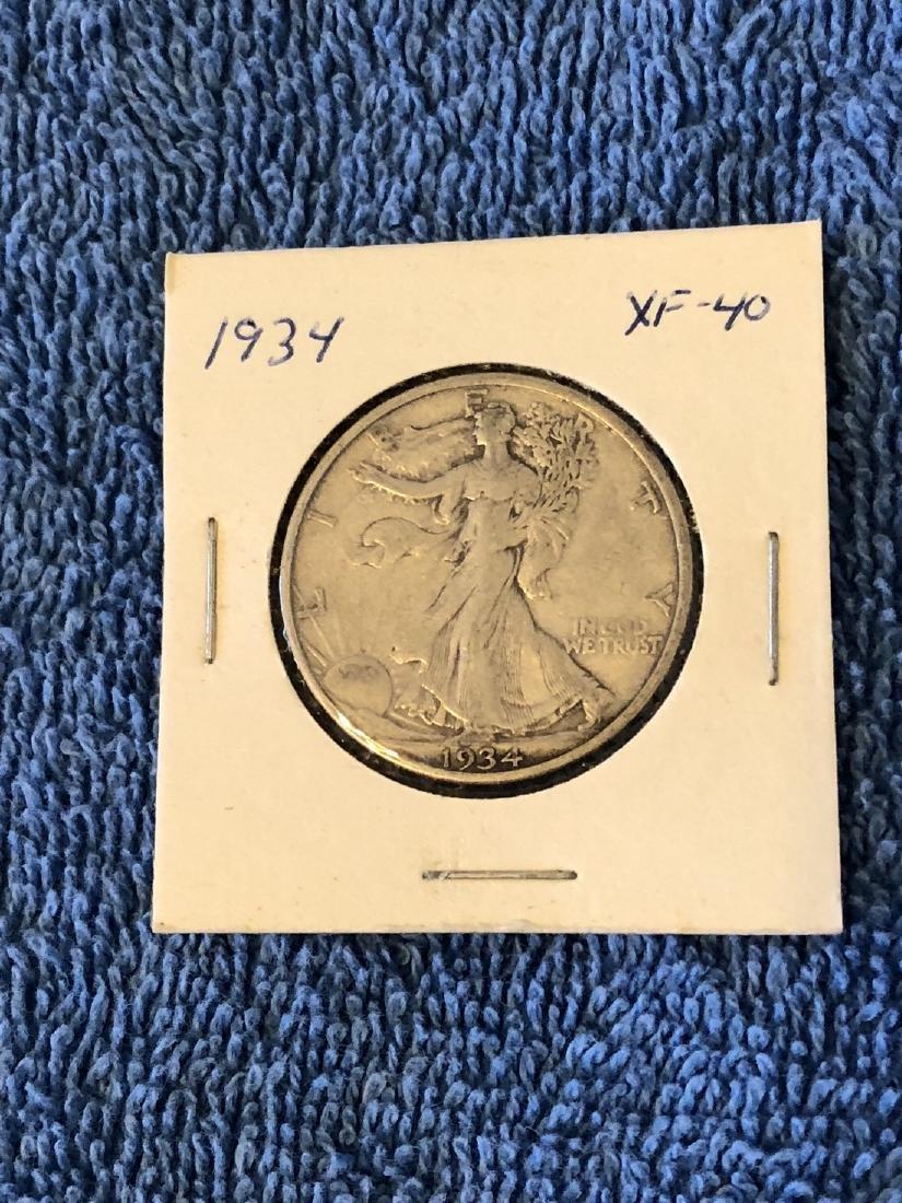 1934 XF-40 Walking Liberty Half Dollar