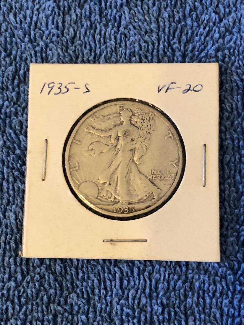 1935S VF-20 Walking Liberty Half Dollar