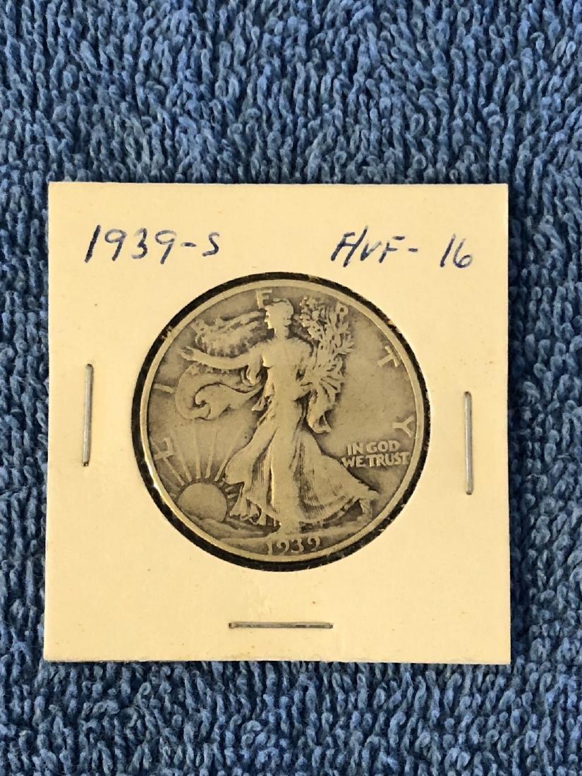 1939S F/VF16 Walking Liberty Half Dollar