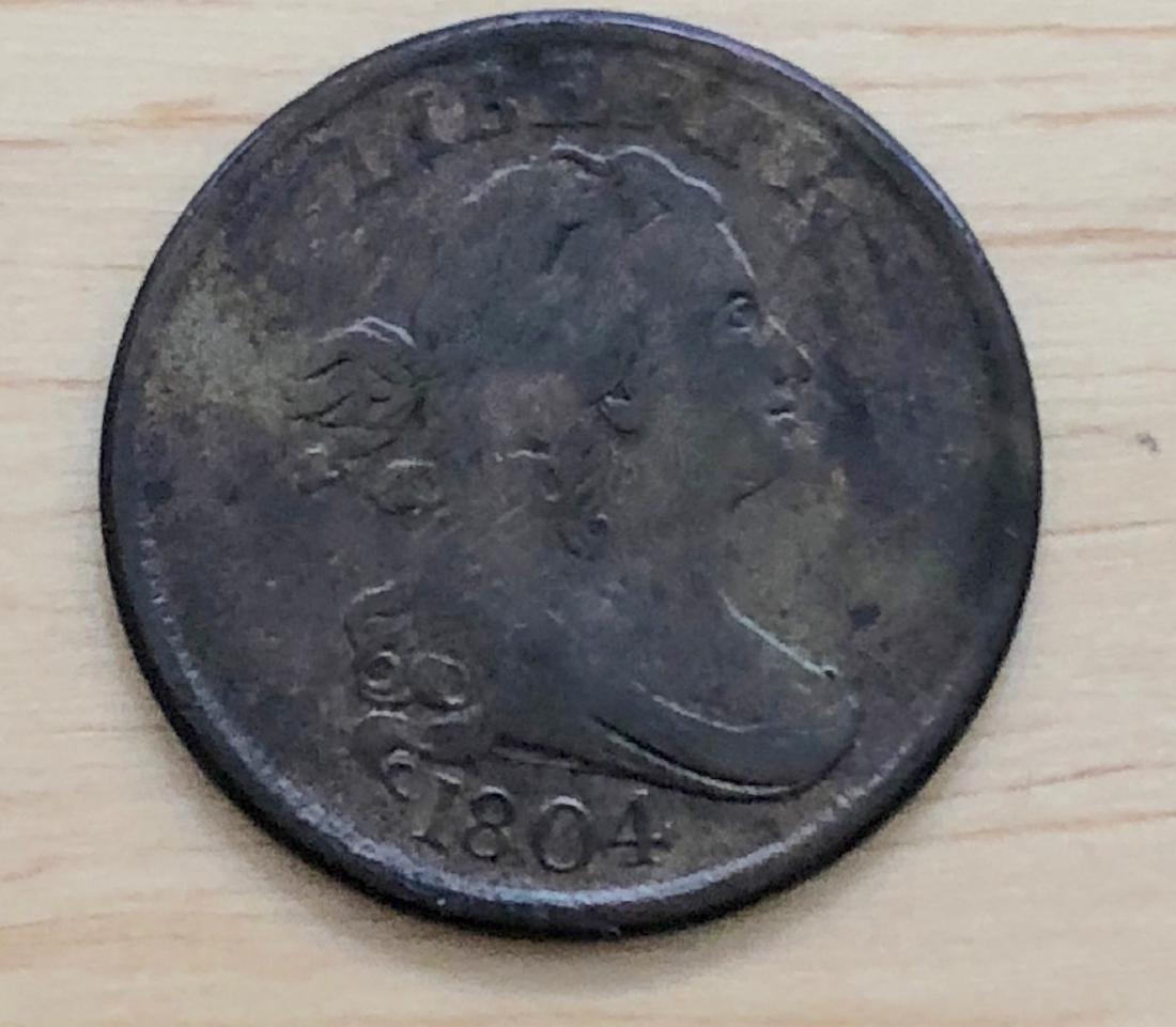 1804 Half Cent Cross 4, Stems