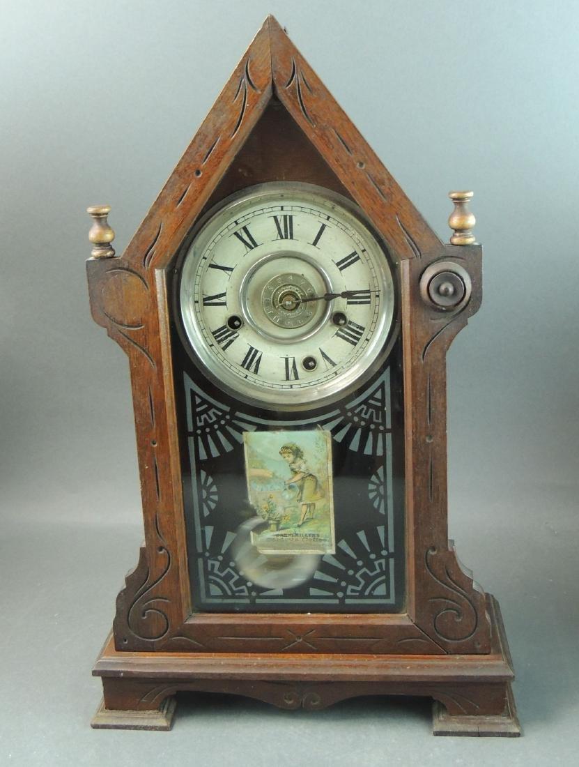 1879 Antique New Haven Clock Mantle Clock