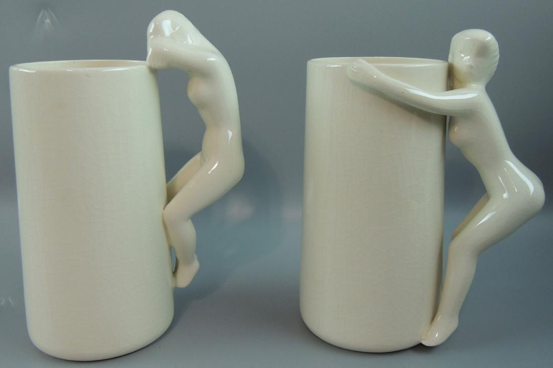 Ceramic Nude Mugs, Signed