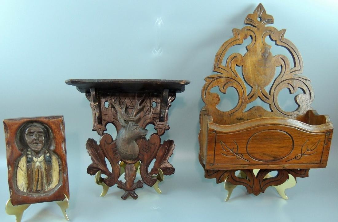Wood Folk Art Shelf Plus