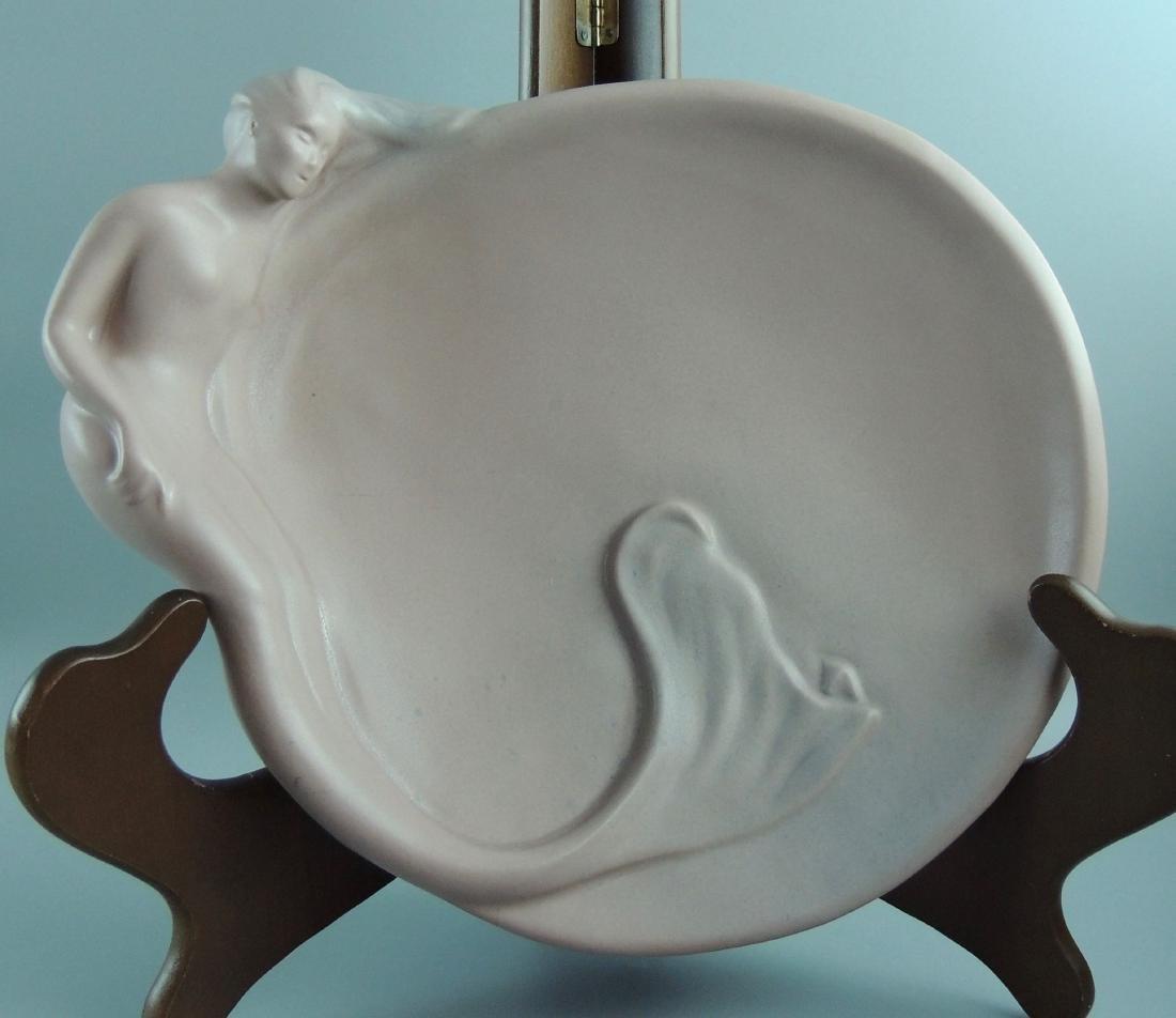 Van Briggle Art Nouveau Dusty Rose Mermaid Tray