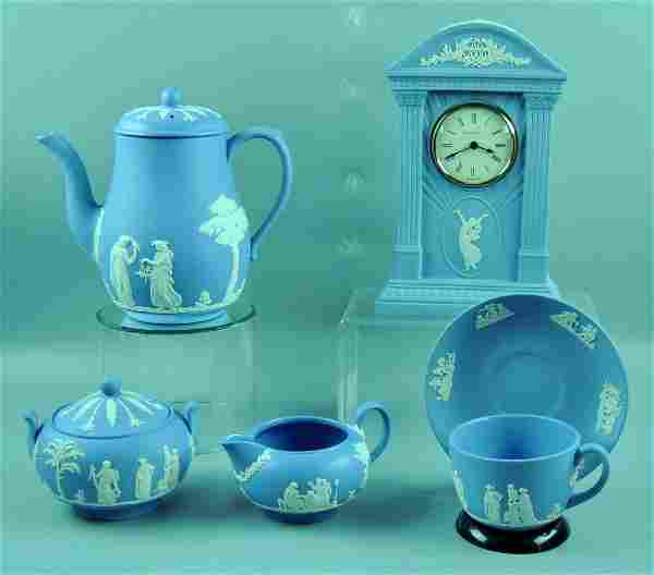Wedgwood Jasperware Tea Set & Clock