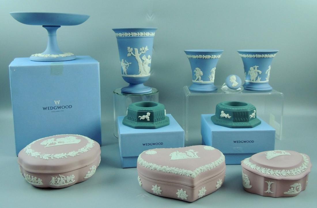 Wedgwood Jasperware Vanity & Vases
