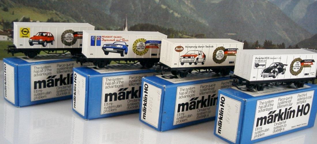 Märklin scale 1:87 (H0) - 4481 - Four container cars