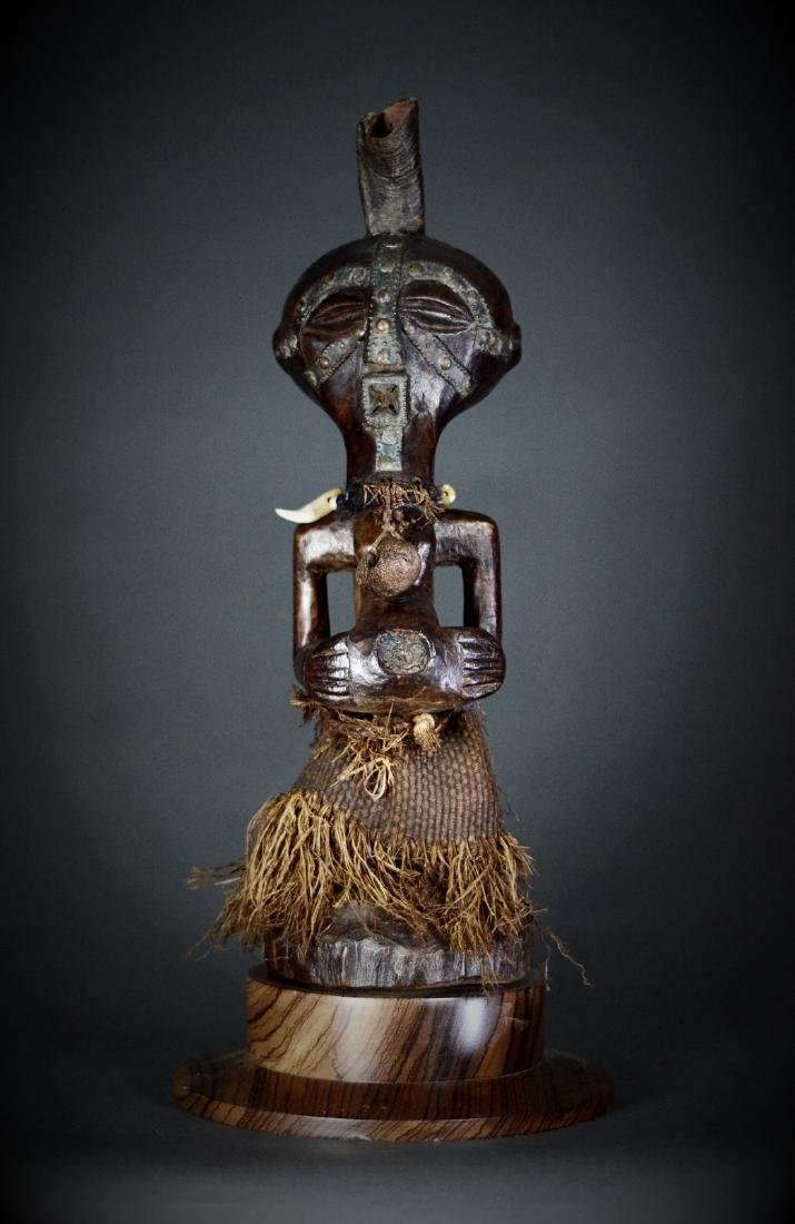 African Tribal Songye Personal Power Nkisi Figure DRC