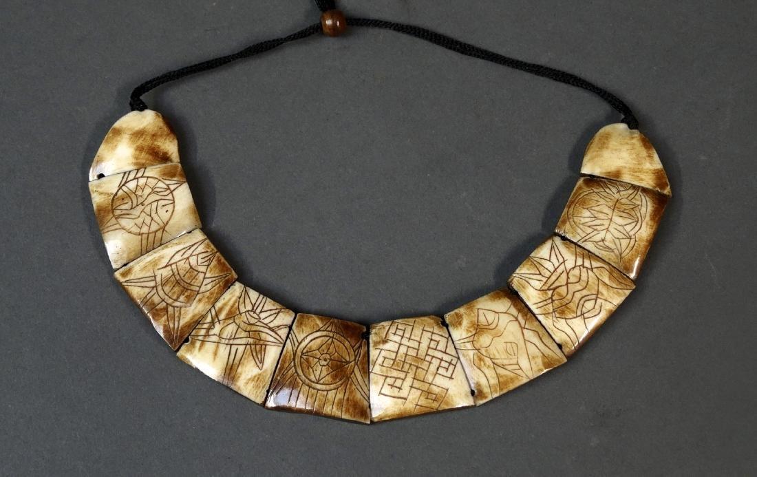 Old Leti Bone Necklace Tanimbar