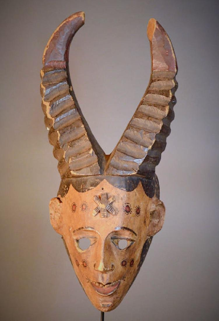 Develish Igbo or Ibo Mask With Horns. Nigeria