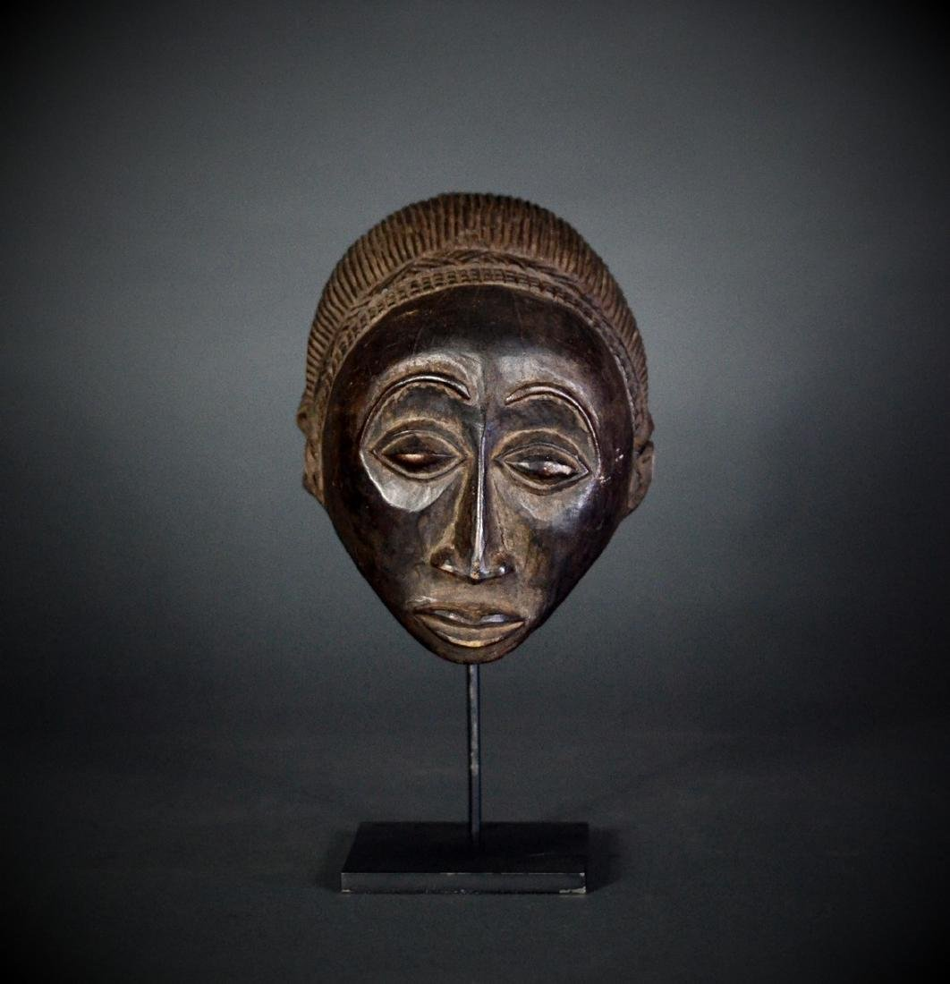 African Tribal Shankadi Luba Wooden Head & Cascade Hair