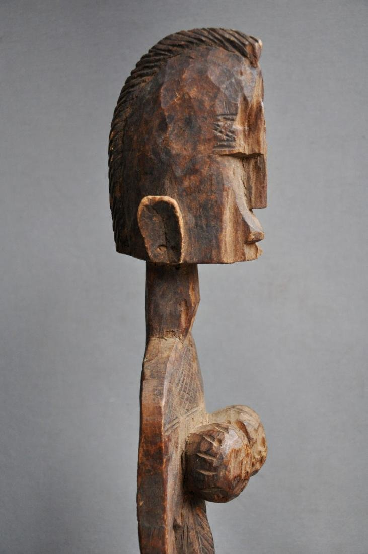 Old Female Ancestor Figure from the Bambara Tribe, Mali - 8