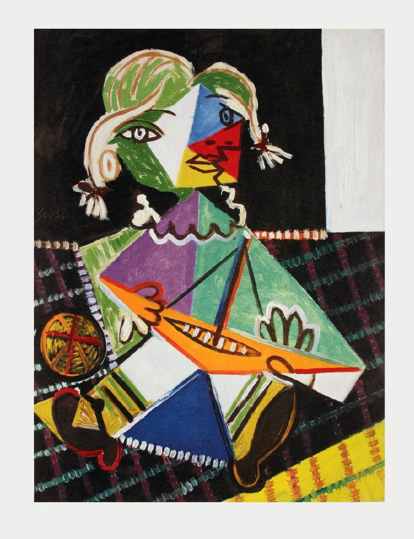 Pablo Picasso - Maya with Sail Boat