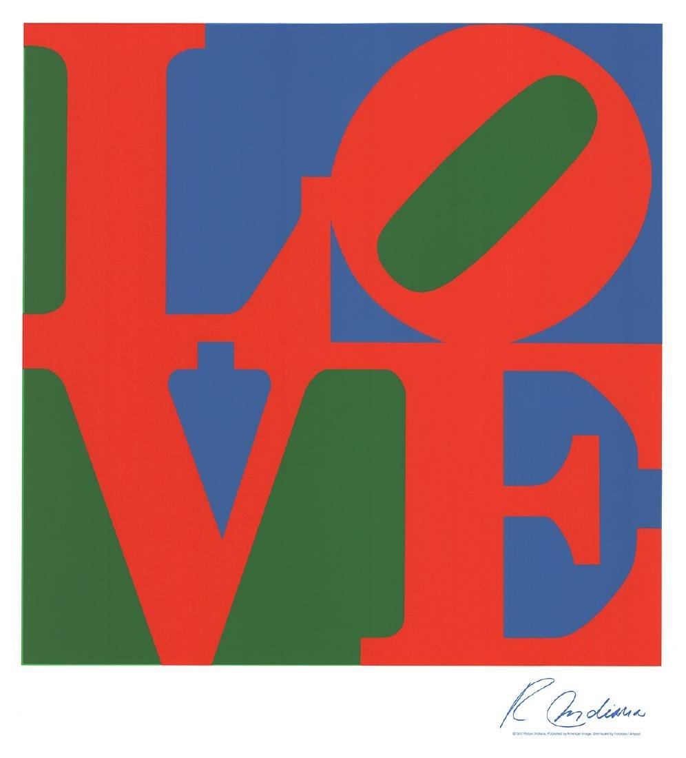 Robert Indiana - LOVE (Blue, Green, Red) - 2004