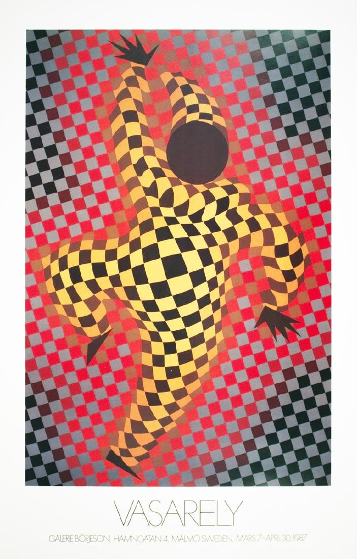 Victor Vasarely - Clown (Red) - 1987