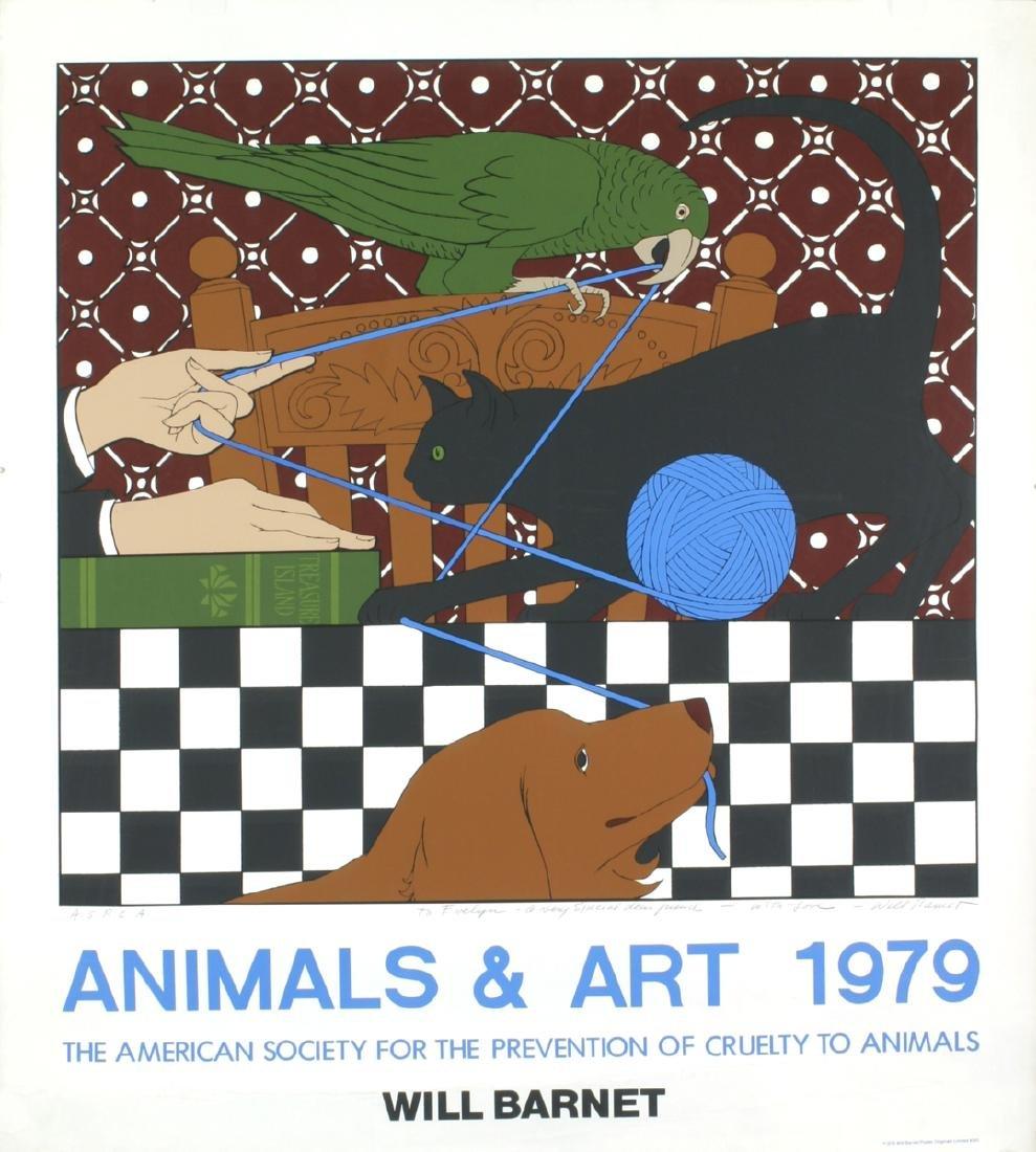 Will Barnet - Animals & Art - 1979 - SIGNED
