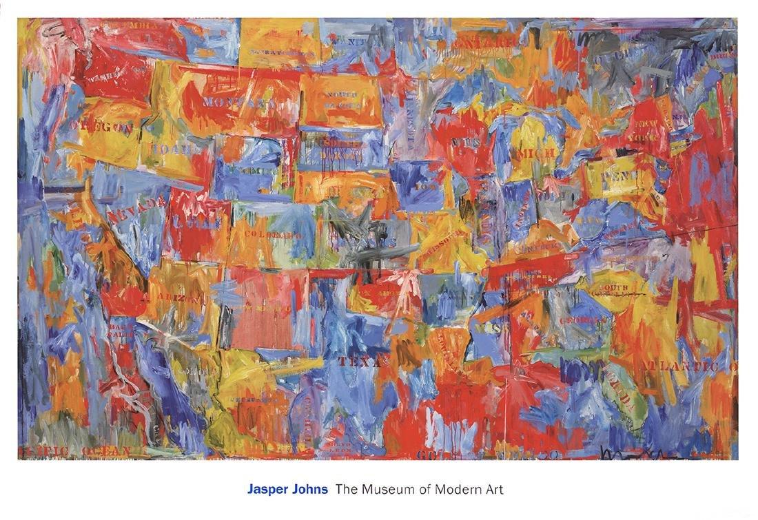 Jasper Johns - Map (lg) - 2011