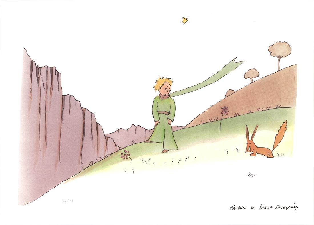 Antoine de Saint Exupery - Little Prince & Fox - 2015