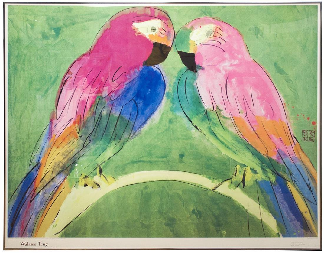 Walasse Ting - Two Parrots - 1990