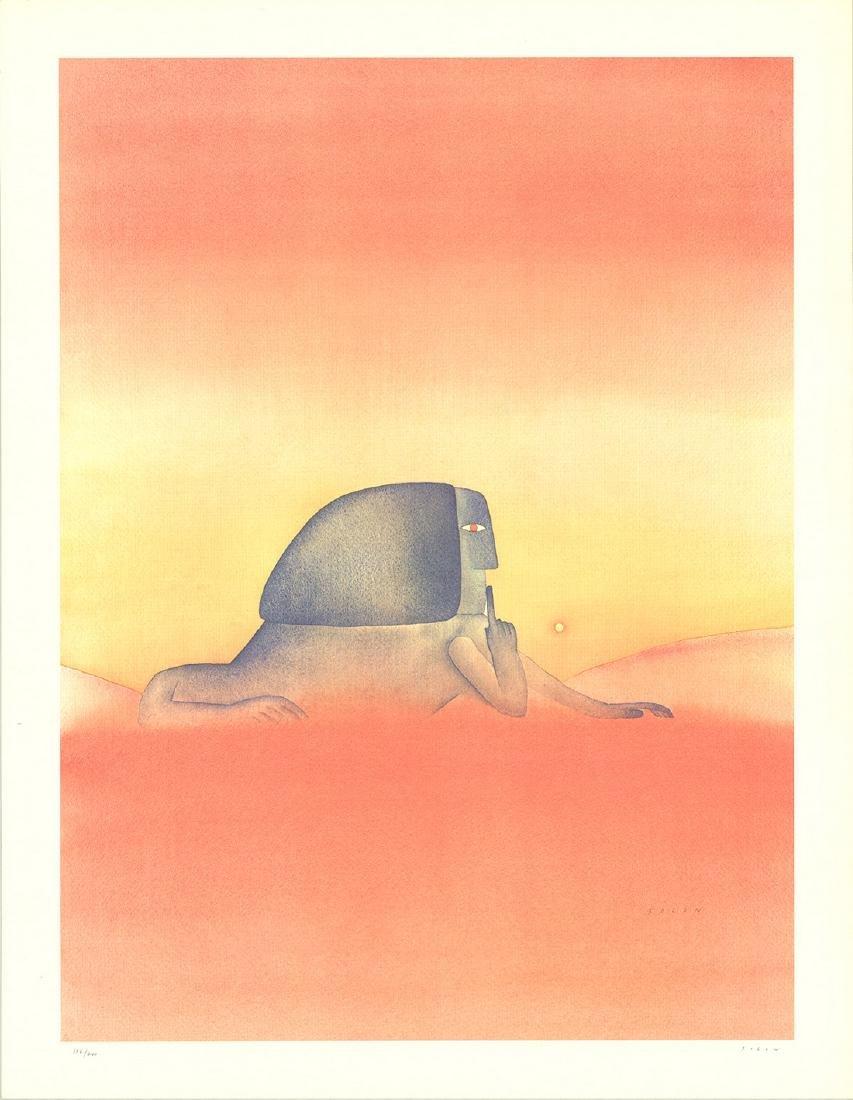 Jean-Michel Folon - Sphinx - SIGNED
