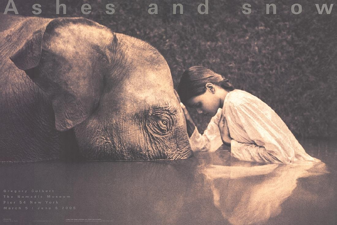 Gregory Colbert - Girl with Elephant - 2005