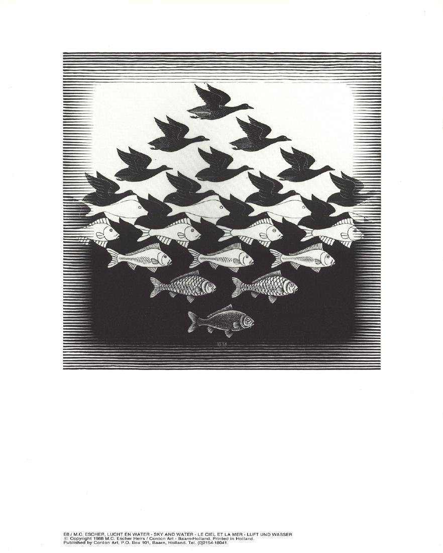 3 Assorted M.C. Escher Posters