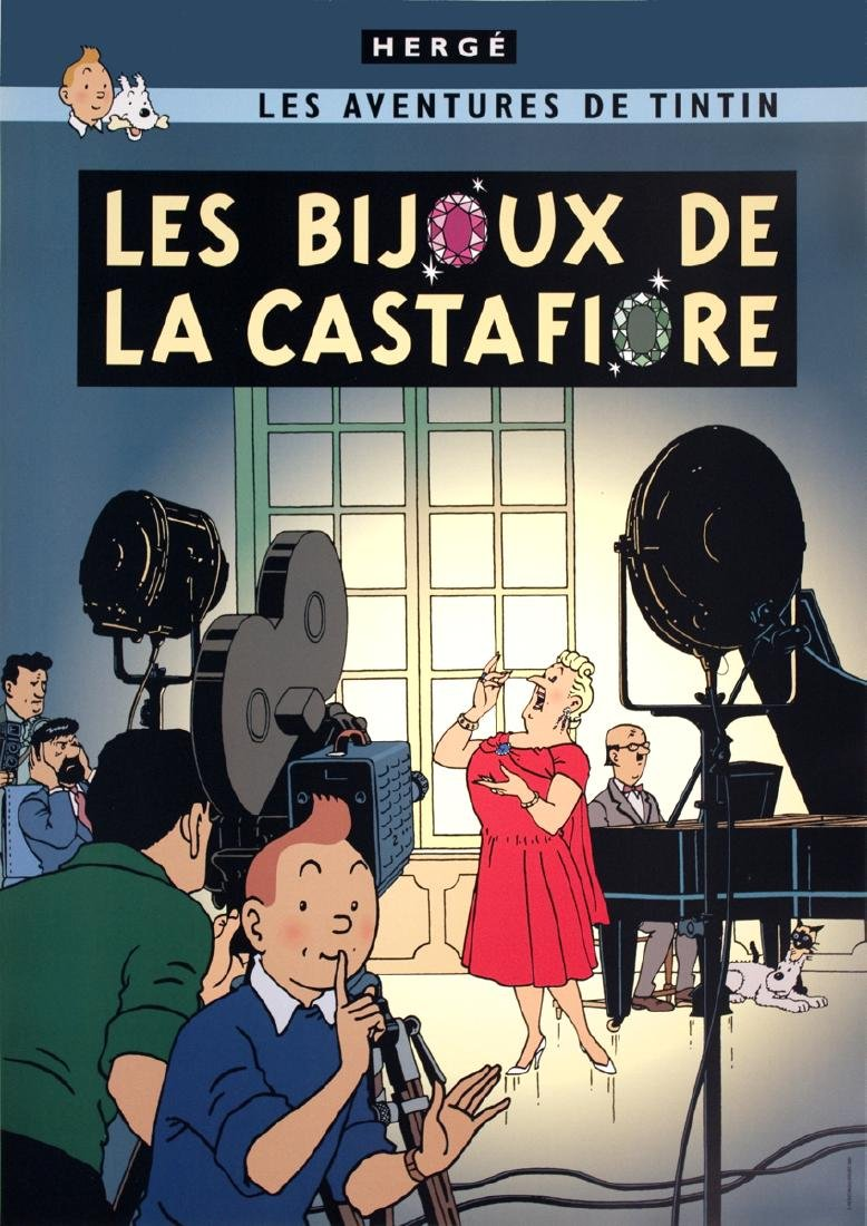 3 Assorted Herge Tintin Posters