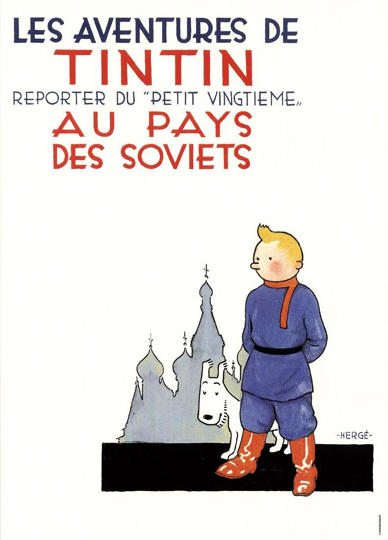 3 Assorted Herge Tintin Posters - 3