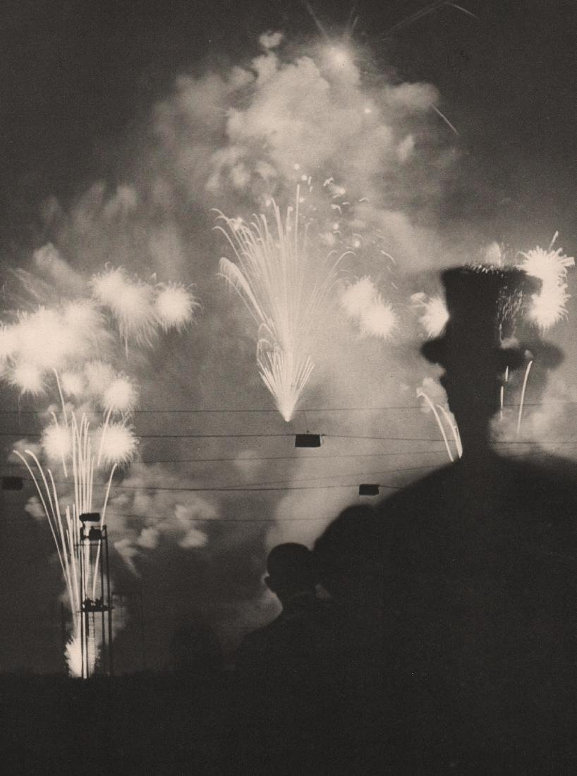 BRASSAI - Fireworks, Paris at Night