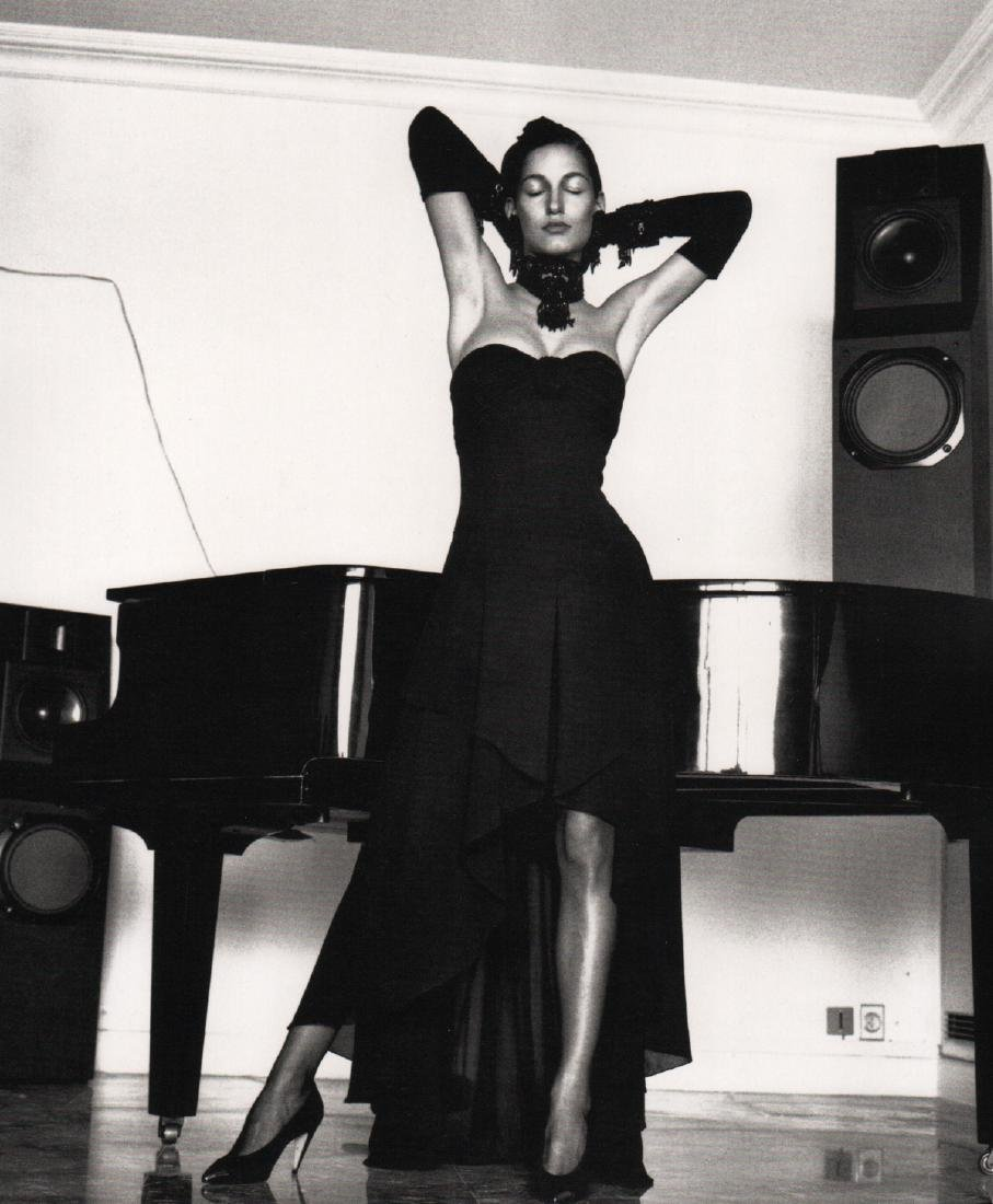 HELMUT NEWTON - Modeling a Karl Lagerfeld Dress