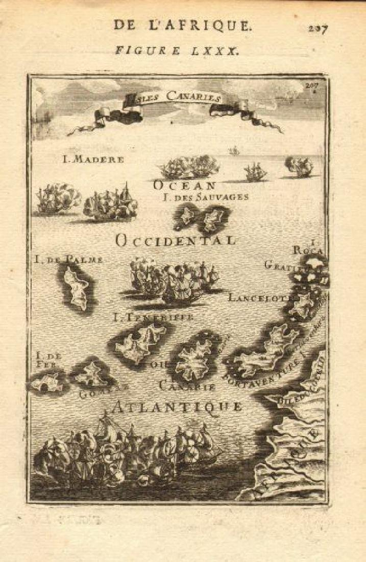 Mallet: Antique Map of the Canary Islands, 1683