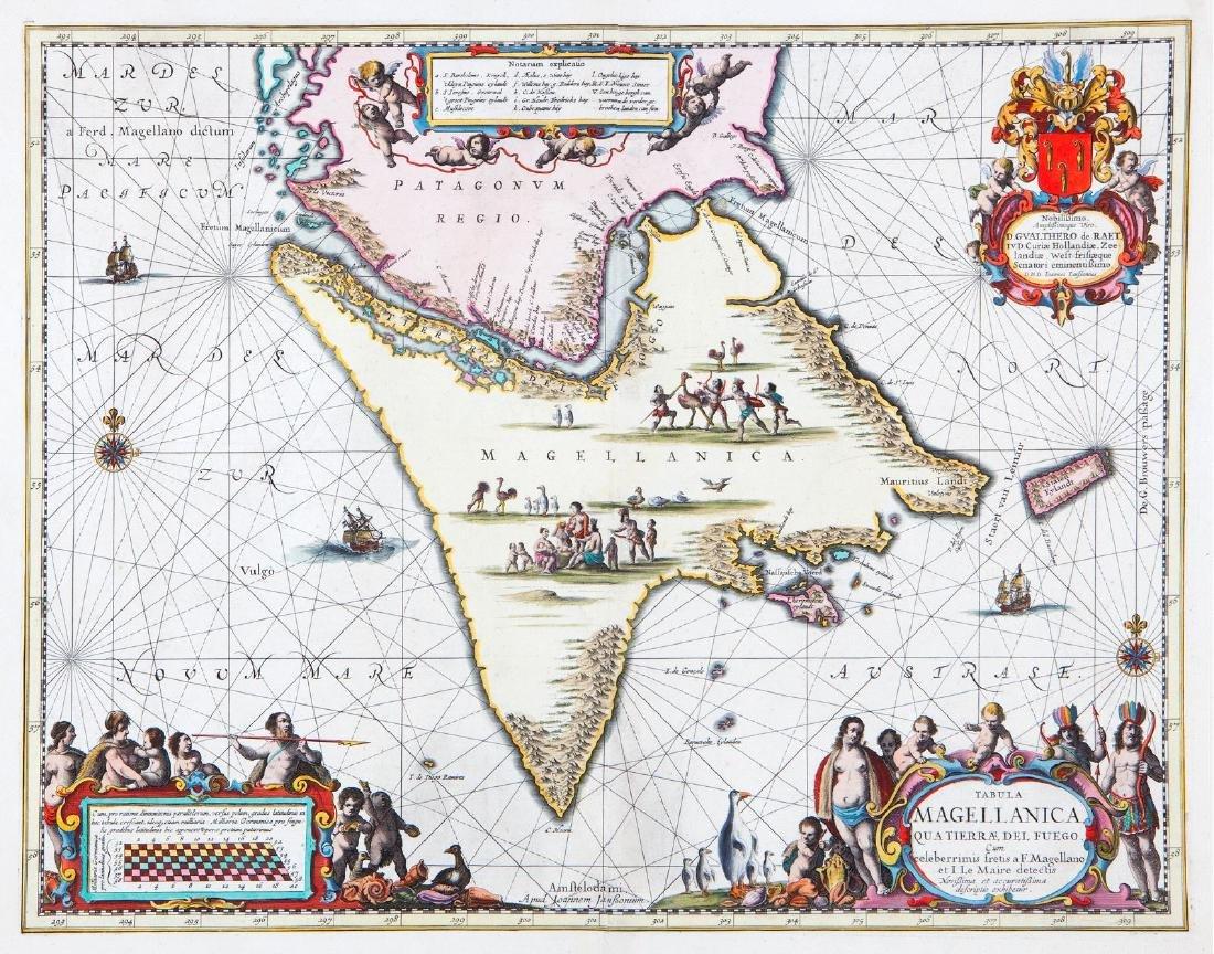 Jansson: Map of Magellan Straits/Tierra del Fuego, 1640