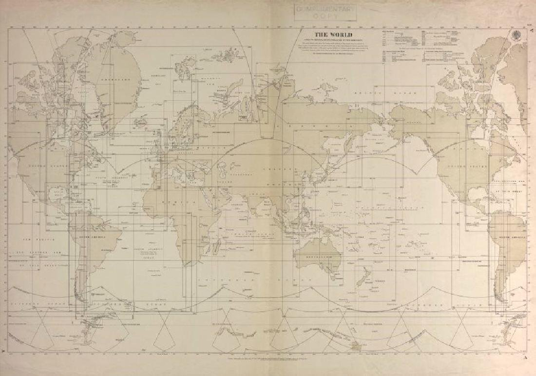 World Index to nautical sea charts by the Admiralty