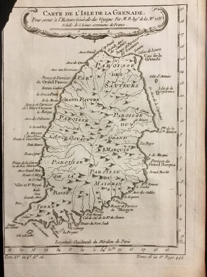 Bellin: Antique Map of Granada, 1740
