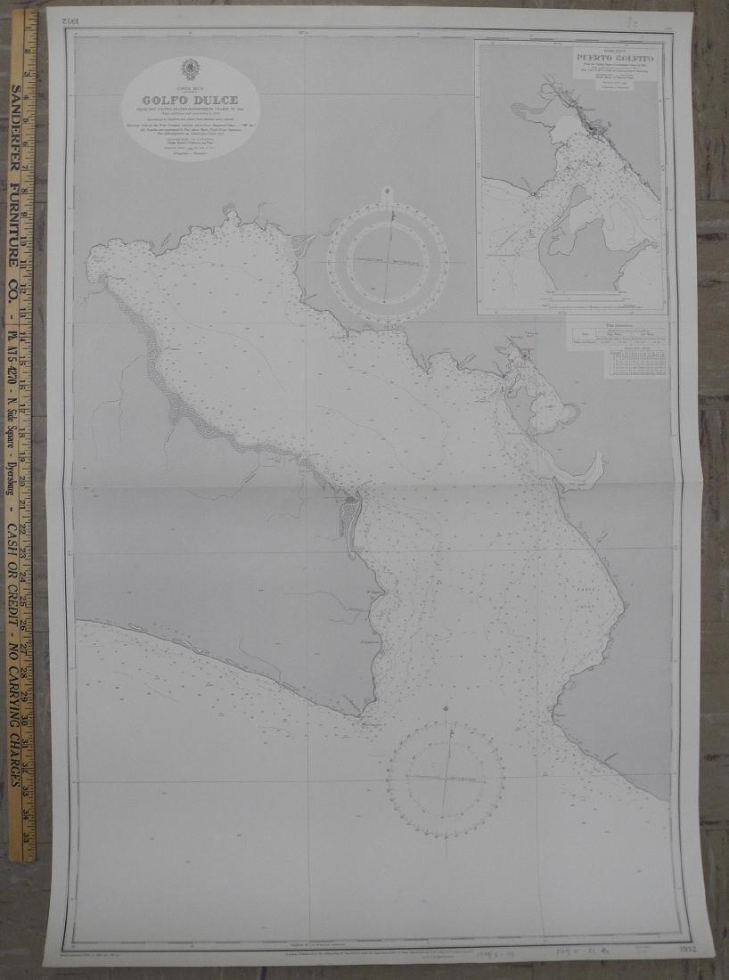 Map of Costa Rica. Golfo Dulche, 1970