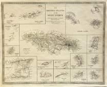 SDUK: Antique Map of British West Indies Islands, 1830