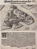 de Bry: French Fort on River May Island, Florida, 1590