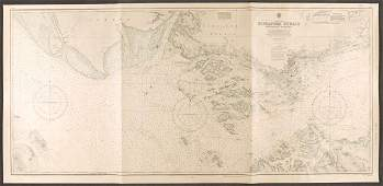 Singapore Strait Western Portion Sea Chart, 1957