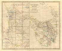 SDUK: Map of West Australia & Van Diemen Island