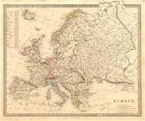 SDUK: Antique Map of Europe, 1845