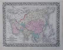 Mitchell: Antique Map of Asia [verso] Middle East 1878